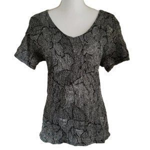 JACLYN SMITH Blouse Floral Stretchy Size Large